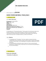Workpaper FISIOLOGIA