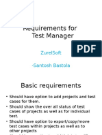 Requirements for Test Manager