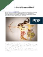 Horsebow Dan Teknik Memanah Thumb Draw