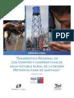 Diagnostico Regional de Los Comites y Cooperativas de Agua Potable Rural de La Region Metropolitana de Santiago, 2014