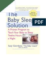 Scarica Il Libro the Baby Sleep Solution Di Suzy Giordano Lisa Abidin PDF