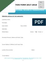 Application & Registration Form MSc International Business Management M2 (1)