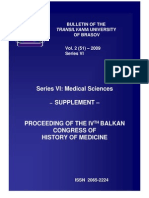 Proceeding of the Ivth Balkan Congress of History of Medicine 2009