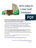 We Re Going on a Bear Hunt Printables