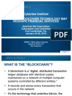 CL320000 Relatedresources How the Blockchain Technology May Reshape Financial Services
