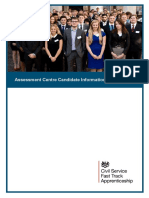 Fast Track Apprentices Candidate Information Pack 2015