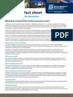 Construction Works Insurance Fact Sheet 07 12