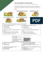 Evaluación de Lenguaje y Comunicación POEMA
