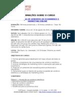Curso de Gerentes Ecommerce e Marketing Online na Ecommerce School