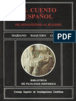 El Cuento Espanol Del Romanticismo Al Realismo