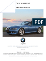 Group 4 Analysis -BMW Z3 Roadster