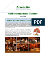 Environmental Issues April 2009 or the Agenda