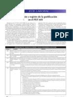 Declaración y registro de la gratificación en el PDT 601
