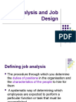 Job Analysis and Job Design