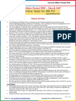 Current Affairs Pocket PDF - March 2017 by AffairsCloud