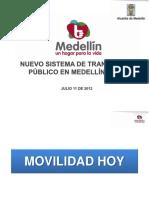 Trasporte en Medellin 2012