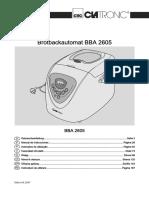 Clatronic Bba 2605