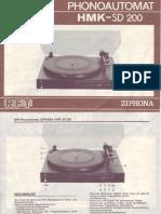 Rft Hmk-sd200 Ziphona Turntable