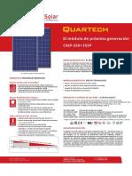 Catalogo de Panel Solar 250W - Canadian Solar