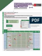 Calendarización Nivel Inicial CNI San Andres - Paragsha