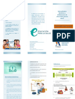 Educacion Para La Salud Folletooo PDF