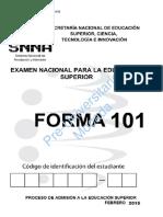 Forma 101 Resuelta