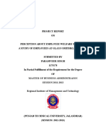 Perception About Employee Welfare Schemes- Priyanka