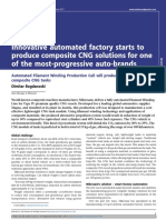 Innovative Automated Factory Starts to Prodece Composite CNG Solution for One of the Most Progressive Auto Brands