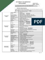 Date Sheet of Part I 2nd a 2016 Date Sheet