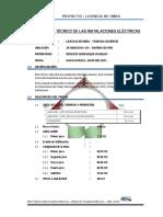 Infor_técnico de Las Instalaciones Eléctricas