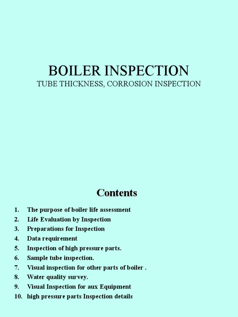 boiler inspection.ppt | Nondestructive Testing | Waves