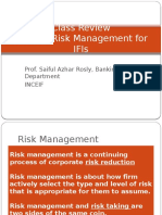 Risk Management for IFIs