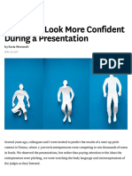 6 Ways to Look More Confident During a Presentation