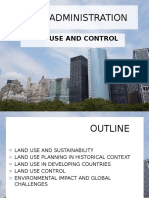 Land Use and Control