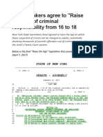 New York State's Raise the Age Legislation