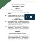 Reglamento General de Estudios UJCM 2017