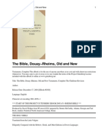 Douay-Rheims, Old and New Testament