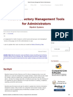 Active Directory Management Tools for Administrators