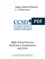 RPDP - CCSD - High School Proficiency Practice Test 2010F - Math