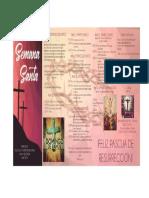 Programacion Semana Santa 2017 Divina Misericordia