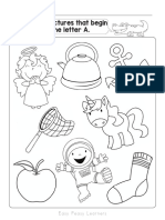 Letter a Worksheet Set