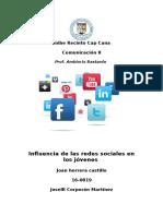 influencias de las redes sociales en los adolescentes  Monografia