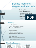 Aggregate Planning Strategies and Methods