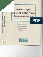 COMENTARIO EXEGETICO A LA LEY QUE REGULA EL PROCESO CONTENCIOSO ADMINISTRATIVO - LORETTA MONZON.pdf