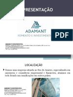 Apresentação Adamant Investimentos