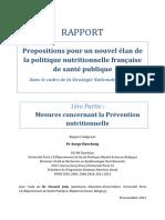 Politique Nutritionnelle Française Rapport Hercberg 15-11-2013
