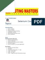 SELENIUM COURSE CONTENT.docx