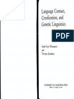 Sarah G. Thomason, Terrence Kaufman Language Contact, Creolization, And Genetic Linguistics
