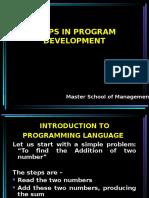 Steps in Programme Development