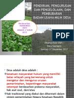 Badan Usaha Milik Desa (Materi Bina Desa)